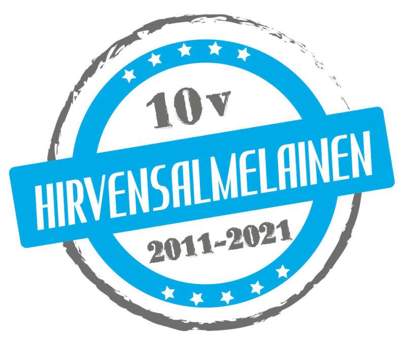 Hirvensalmelainen 10v logo
